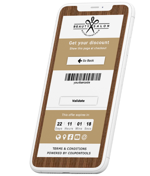 Digital Coupon Validation by importing your own barcodes and validation codes.