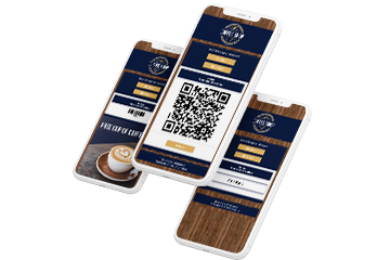 Digital Coupons showing QR Code, on device and password validation on a smartphone.