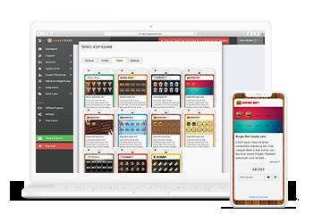 Coupontools Digital Coupon Builder with integrated Digital Coupon templates on a laptop.