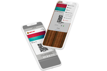 Save, share or print option of Digital Coupons shown on a smartphone.