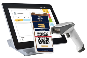 Validation of Digital Coupon on smartphone using a POS scanner.