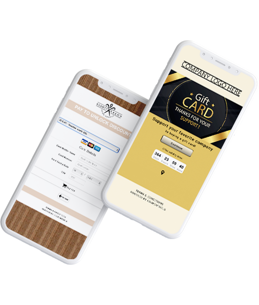 Digital Payment Voucher and Gift Card on a smartphone.