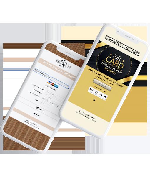 Voucher de Pagamento Digital e Vale-Presente em um smartphone.