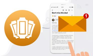 Tarjeta de Lealtad de Coupontools con Sello Digital en un celular.