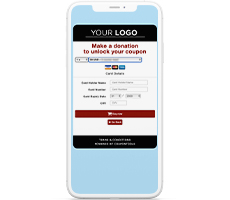 Payment page in a Digital Gift Card