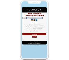 Betaalpagina van een digitale cadeaubon