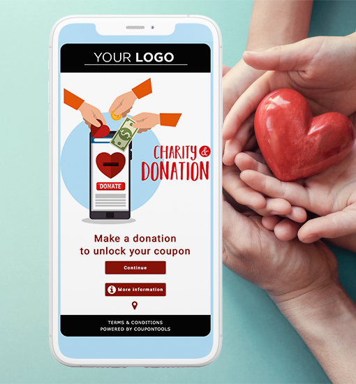 Coupontools Mobile Charity Coupon Voucher