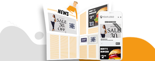 Coupontools digitale coupon catalogus op smartphone.