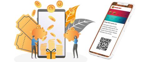 Digital Stamp Loyalty Card on smartphone to reward loyal customers.