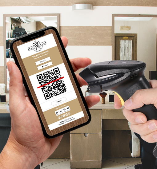 Coupontools digitale coupon validatie via QR-code door POS-scanner