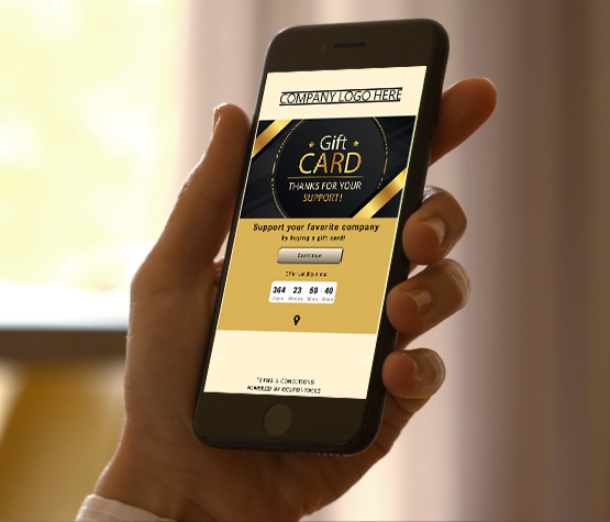 Digital Gift Card on a smartphone in hand.