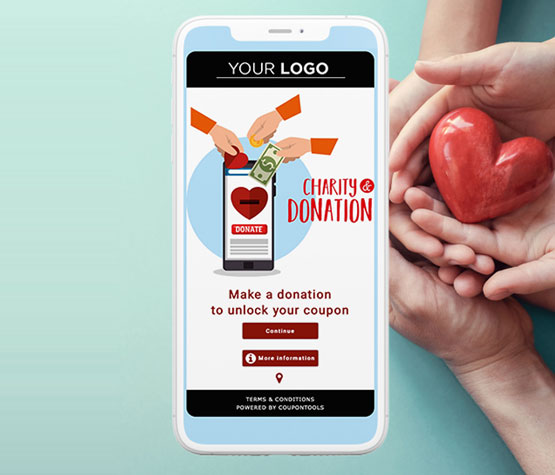 Mobile Fundraising Voucher to allow donations on a smartphone.