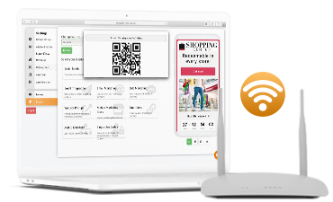 Digital Coupon URL added to your WIFI network.