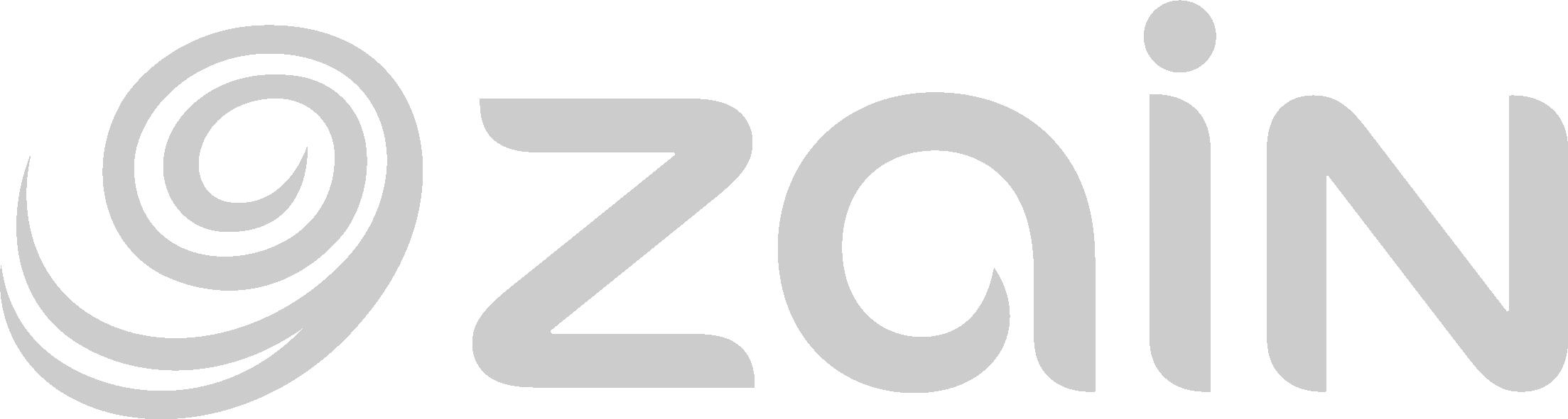 zain - custom game Logotipo de caso práctico