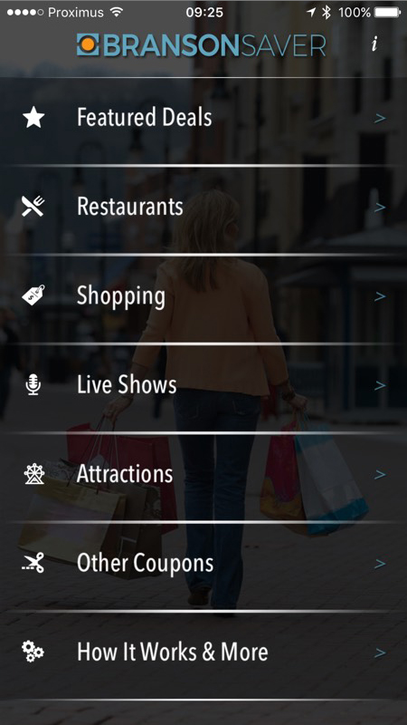 Branson Saver App use case image