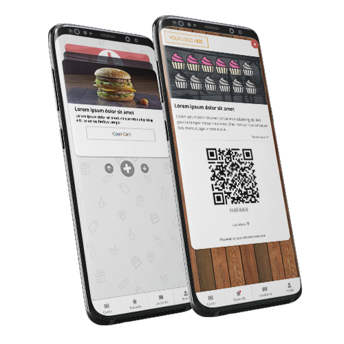 Digital Stamp Loyalty Card on a smartphone.