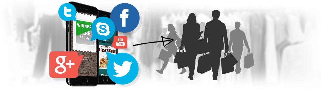 Social media marketing con coupon per i dispositivi mobili